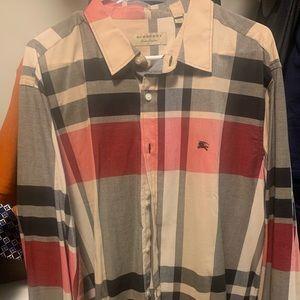 Button up Causal Burberry shirt